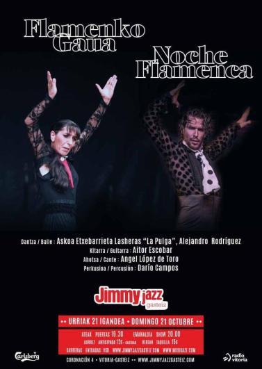 Cartel Noche Flamenca, Jimmy Jazz, Octubre 2018